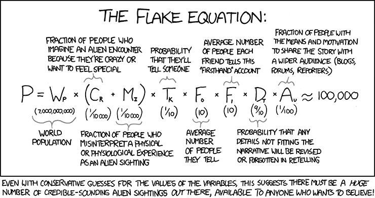 L'équation de Flake, à ne pas confondre avec celle de Drake :-)