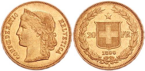 Le Vreneli, pièce de Frs 20.- en or encore utilisée comme cadeau