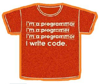 "T-shirt ""I write code"""