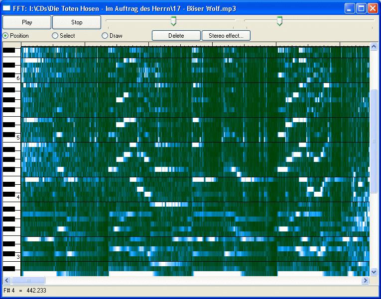 FFT est un joli petit programme qui affiche le diagramme temps/fréquence dun mp3