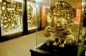 """Seuls quelques (petits) objets en or ont échappé aux conquistadors. La plupart sont au """"Museo de Oro"""" de Lima"""